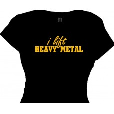 I Lift Heavy Metal - Workout Fitness Weight Lifting T-Shirt